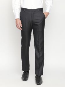 Solemio Black Formal Trouser For Mens (code - A18tr3013ebl)