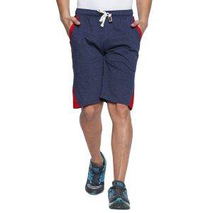 Fitz Polyster Cotton Blue Bermuda For Mens (code - S18br7002bmlg)