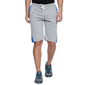 Fitz Polyster Cotton Grey Bermuda For Mens (code - S18br7002gm)