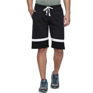 Fitz Polyster Cotton Charcoal Bermuda For Mens (code - S18br7003anmi)