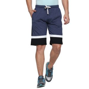 Fitz Polyster Cotton Blue Bermuda For Mens (code - S18br7003bmlg)