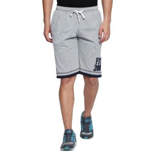 Fitz Polyster Cotton Grey Bermuda For Mens (code - S18br7005gm)
