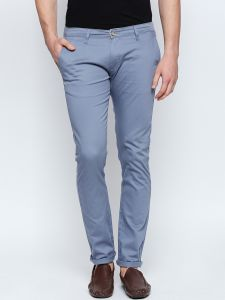 Men's Wear - Solemio Blue Chino For Mens (Code - S18CH9001BU)