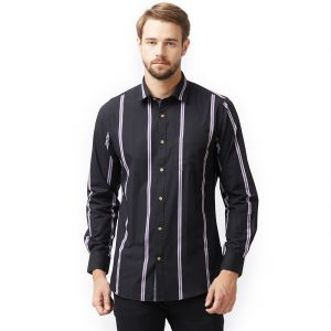 Solemio Black Shirt For Mens (code -s18sh1036ebl)