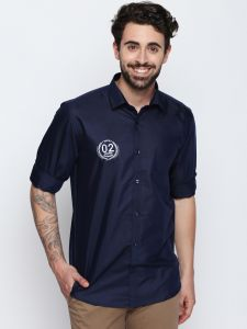 Solemio Navy Blue Shirt For Mens (code - S18sh1042env)