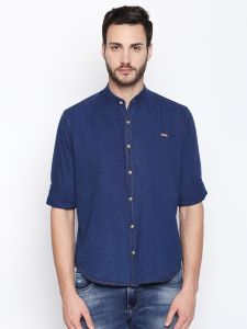 Solemio Navy Blue Shirt For Mens (code - S18sh1073elbl)