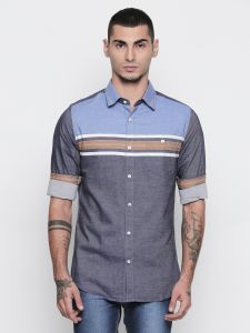 Solemio 100% Cotton Grey Color Shirt For Mens (code - S18sh1079emtd)