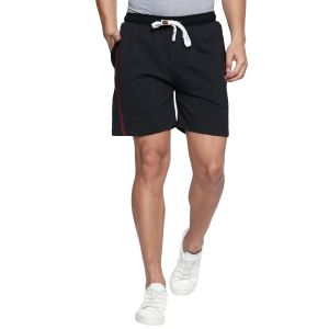 Fitz Polyster Cotton Charcoal Shorts For Mens (code - S18so4003antml)