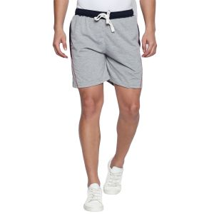 Fitz Polyster Cotton Grey Shorts For Mens (code - S18so4003gm)
