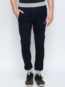 Fitz Navy Blue Slim-fit Jogger For Mens (code - S18tc3035nv)