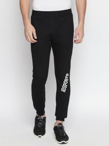 Fitz Black Slim-fit Jogger For Mens (code - S18tc3063bl)