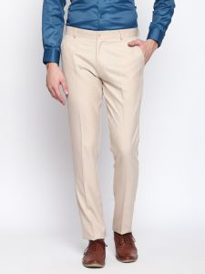 Solemio Beige Trouser For Mens (code - S18tr3042ebe)