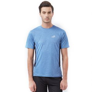 Fitz Blue Polyester T-shirt For Mens (code - S18ts7058nv)