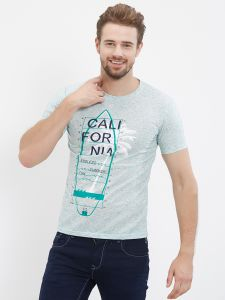 Fitz Green Round Neck T-shirt For Mens (code - S18ts7075ge)