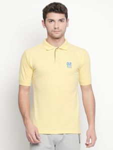 Fitz Yellow Polo T-shirt For Mens( Code - S18ts7090lmn)