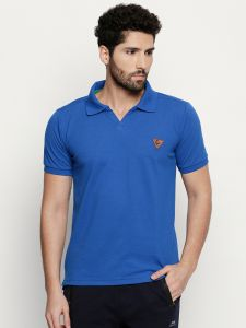 Fitz Blue Polo T-shirt For Mens (code - S18ts7092bu)
