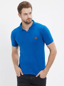 Fitz Blue Polo T-shirt For Mens (code - S18ts7092db)