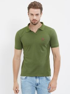 Fitz Olive Polo T-shirt For Mens (code - S18ts7092ge)