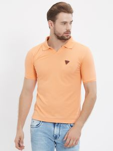Fitz Orange Polo T-shirt For Mens (code - S18ts7092pe)