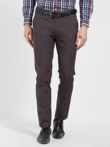 Solemio Men's Wear - Solemio Cotton Lycra Brown Chinos For Mens  (Code - S19CH1001ECHRCL)