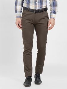 Solemio Cotton Lycra Brown Chinos For Mens (code - S19ch1002eol)