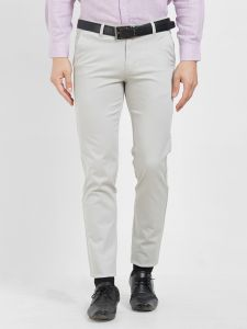 Solemio Men's Wear - Solemio Cotton Lycra Grey Chinos For Mens  (Code - S19CH1003EGR)