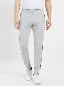 Fitz Poly Cotton Slim Fit Grey Joggers For Mens (code - S19tc3012egr)