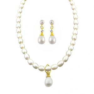 jagdamba,avsar,lime,valentine,pick pocket,triveni Pearl Jewellery Sets - JAGDAMBA DROP PEARL SET.