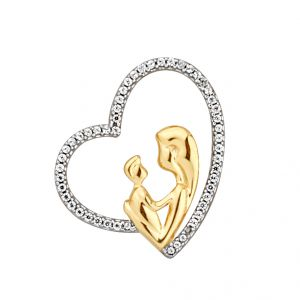 avsar,hoop,jagdamba Pendants (Imitation) - JPEARLS MOM-SYMBOLICAL OF LOVE DIAMOND PENDANT
