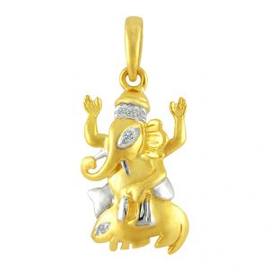 Women's Clothing - Jpearls Ganapati Diamond Pendant- FOR MENS