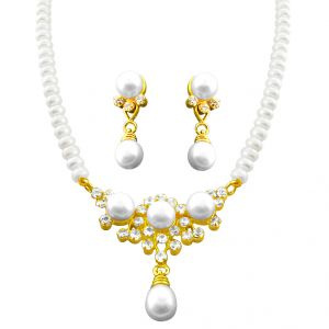 triveni,pick pocket,jpearls,surat diamonds,jagdamba,arpera Pearl Jewellery Sets - DIWALI - EMMA PEARL SET