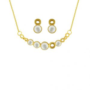 Sri Jagdamba Pearls Pearl Pendant Set With Earring Code 8363