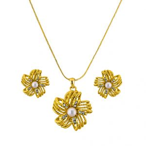 Pearl pendants buy pearl pendant online rediff shopping pearl pendants sri jagdamba pearls cz flora pendant set code 8719 aloadofball Gallery