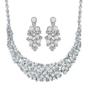 Sri Jagdamba Pearls Charming Pearl Necklace Set Code 8739
