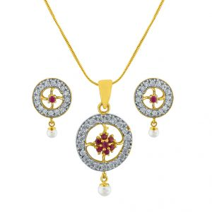 Sri Jagdamba Pearls Attractive Necklace Set Code Ad-143p