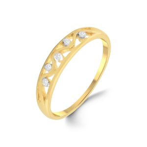 Jpearls 18 Kt Gold Zervaan Diamond Finger Ring