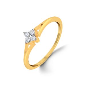 Jpearls 18 Kt Gold Babylon Diamond Finger Ring