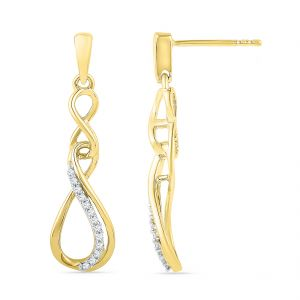 Jpearls 18 Kt Gold Insignia Diamond Earrings