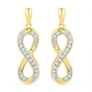 Jpearls 18 Kt Gold Flawless Diamond Earrings