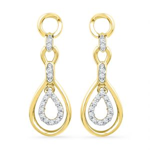Jpearls 18 Kt Gold Valentines Day Special Enchanting Diamond Earrings