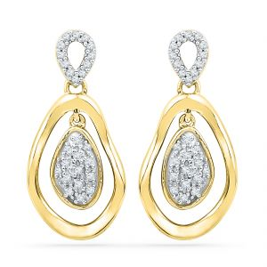 Jpearls 18 Kt Gold Valentines Day Special Zimaa Diamond Earrings
