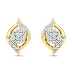 Sri Jagdamba Pearls Phenomenal Diamond Earrings Code Ef020114