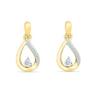 Sri Jagdamba Pearls Coriandrum Diamond Earring-ef021078