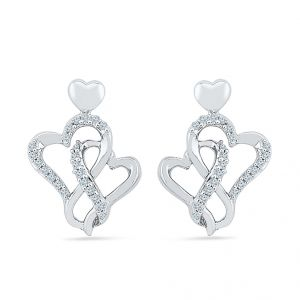 Sri Jagdamba Pearls Hottie Heart Diamond Earring-eh077268