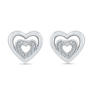 Jagdamba,Kalazone,Jpearls Diamond Jewellery - Sri Jagdamba Pearls Heart Beat Diamond Earring-EH077371