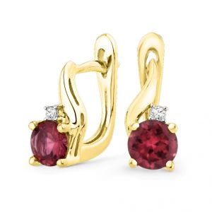 Jpearls Significant Ruby Diamond Earrings