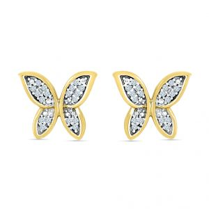 Sri Jagdamba Pearls Butterfly Diamond Shape Earrings Code El022291