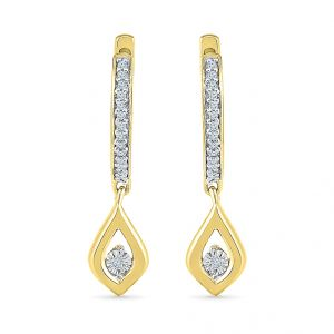Jagdamba,Clovia,Sukkhi,Estoss Women's Clothing - Sri Jagdamba Pearls Primrose Diamond Earrings  Code EO023734