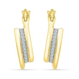 Jagdamba,Clovia,Sukkhi,Estoss Women's Clothing - Sri Jagdamba Pearls 18KT Gold Blossom Diamond Earrings  Code EO023735