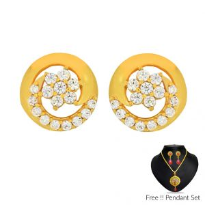 Jagdamba Women's Clothing - Sri Jagdamba Pearls 22Kt (916) Basant Gold Earrings(Code ER-2314)